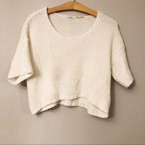 Kimchi Blue White Cropped Sweater